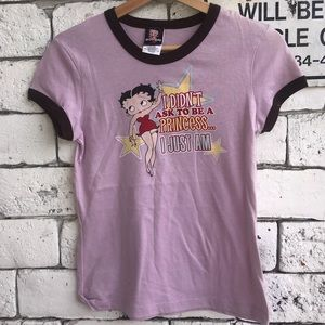 2005 Betty Boop Princess Ringer T Shirt  size med